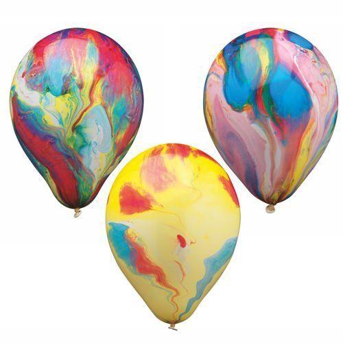 Luftballons Marmoriert Multicolor Partydeko Bunt Luftballon