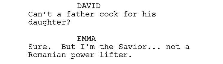 Here's a #scripttease for the next #OnceUponATime -- hope to see ya Sunday!