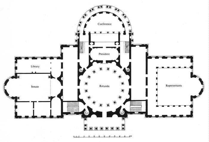 The Most Approved Plan The Competition For The Capitol S Design Temple Of Liberty Building The Capitol For A N Floor Plans Roman House Ancient Roman Houses