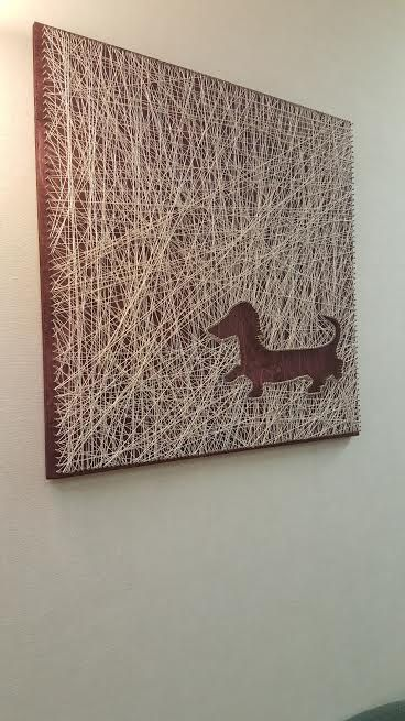 String Art Dachshund Stringin Along Pinterest String Art Art