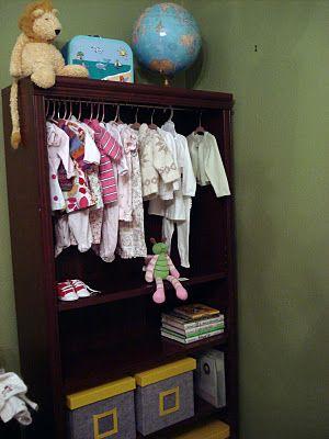 Bookshelf To Closet Idea And Hanger Divider DIY