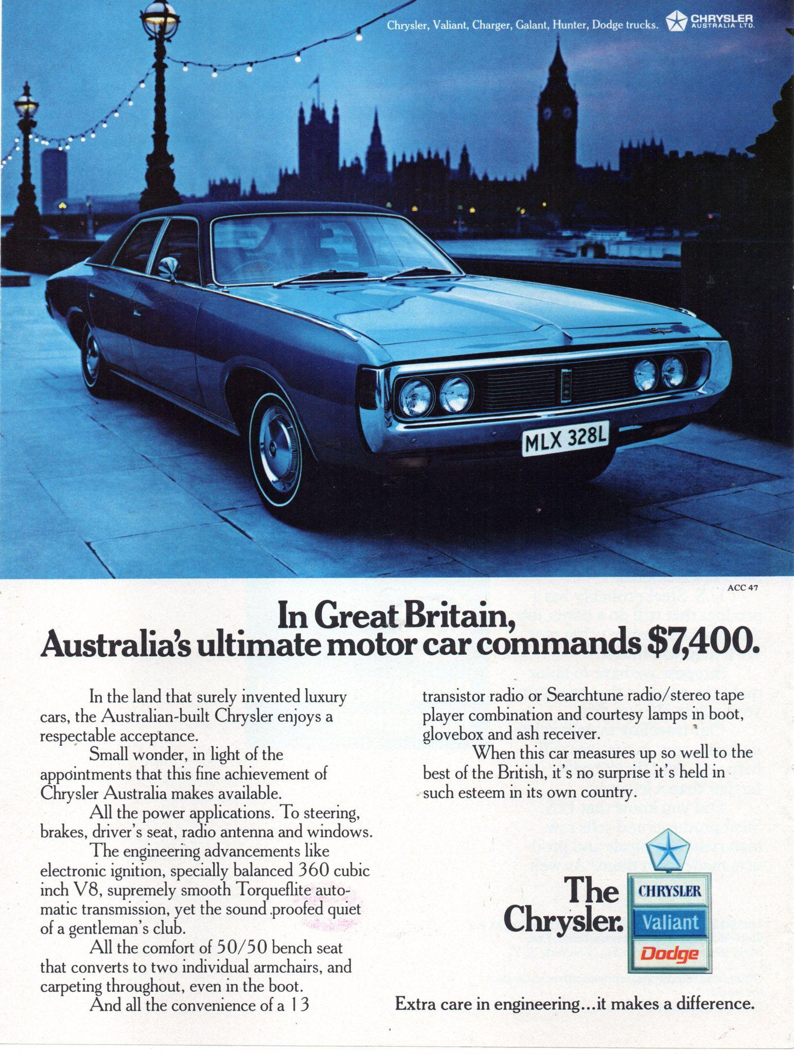 1973 CJ Chrysler By Chrysler Aussie Original Magazine ...