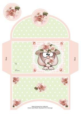 mother owl money wallet printable boxes paper box template envelope et money envelopes. Black Bedroom Furniture Sets. Home Design Ideas