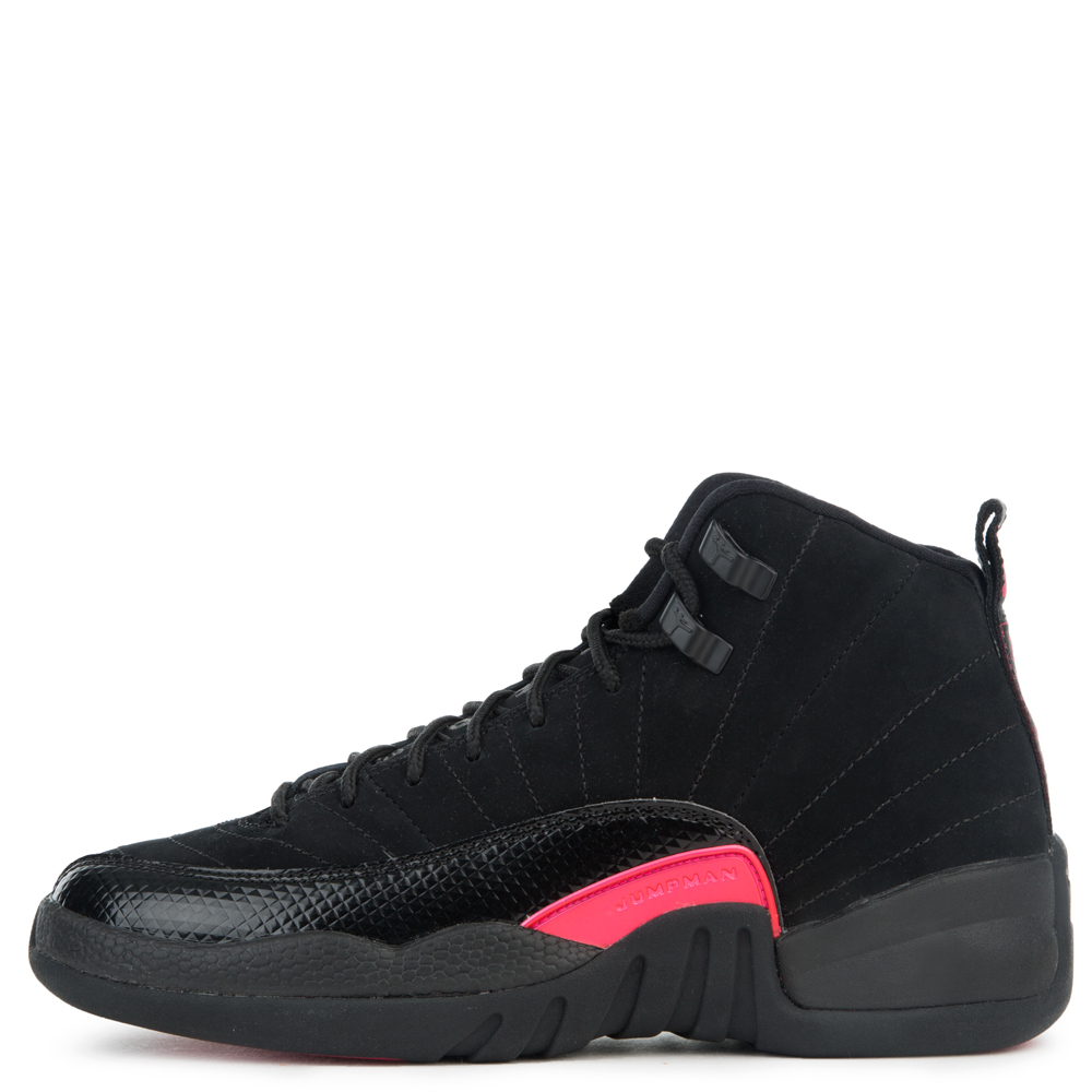 feda1bdc3203 Jordan 12 Retro Gg Black dark Grey-rush Pink