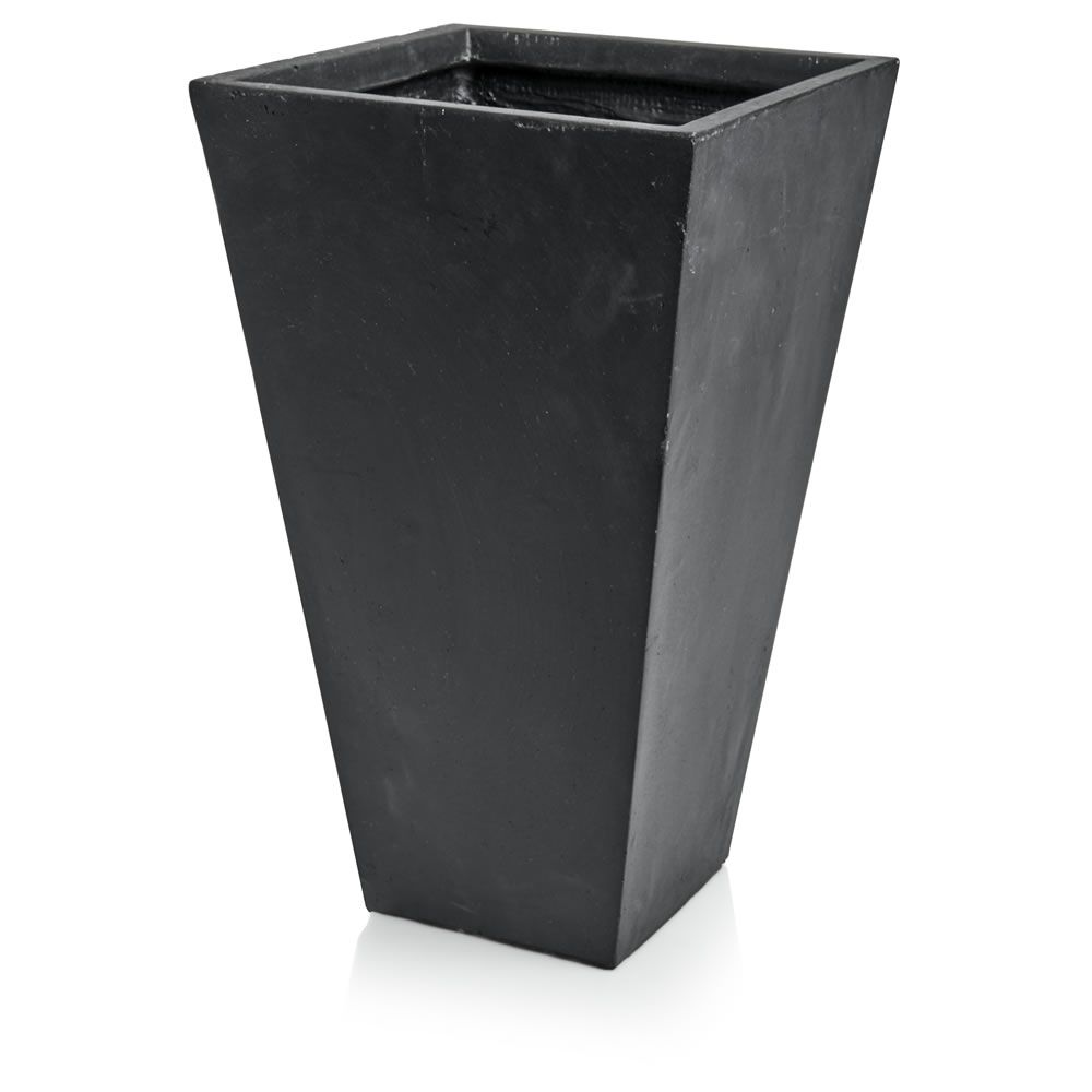Wilko Tall Square Black Planter 53Cm Black Planters 400 x 300