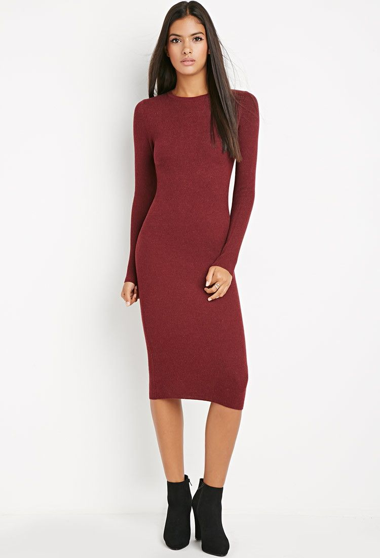 8d988295853d Midi Bodycon Sweater Dress