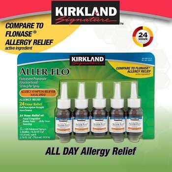 Kirkland Signature Aller Flo 50mcg Allergy Spray 5 Bottles In 2021 Allergy Spray Allergy Relief Nasal Spray