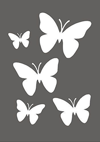 Wall Painting Butterfly Stencil Pattern Amazon Co Uk Diy Tools