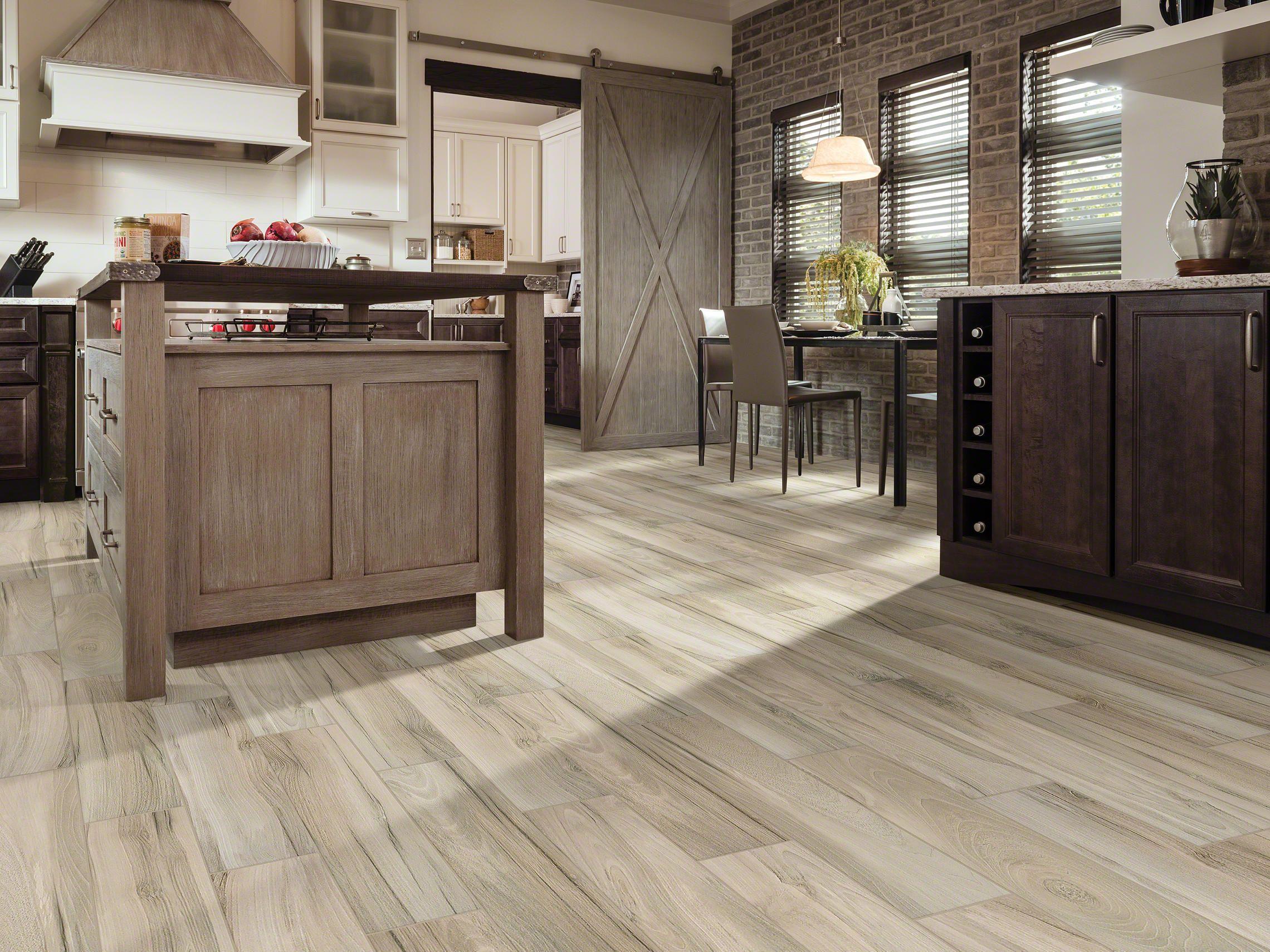 Voyage 6x24 Taupe Room View Kitchen Flooring Bedroom