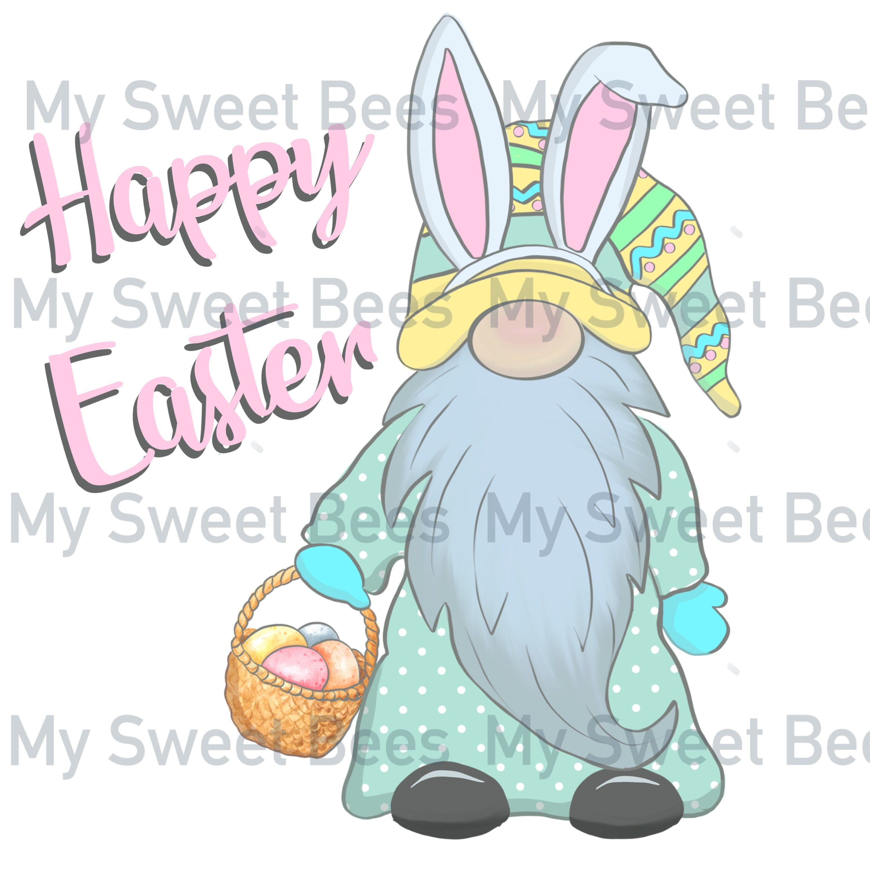 Instant Download Watercolor Easter gnome Digital Clip Art Happy Easter  Watercolor Clipart Easter Egg /& Bunny PNG