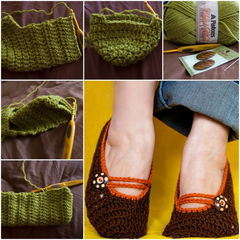Diy Crochet Mary Jane Slippers With Free Pattern Video Mary