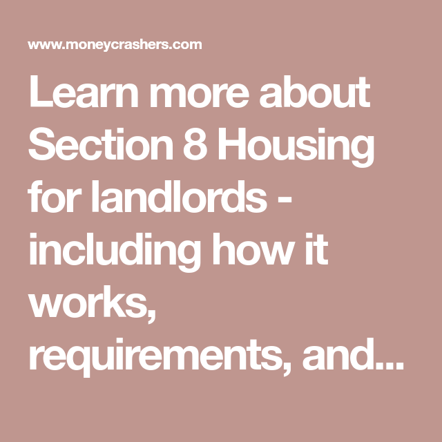 How to Become a Section 8 Housing Landlord – Requirements
