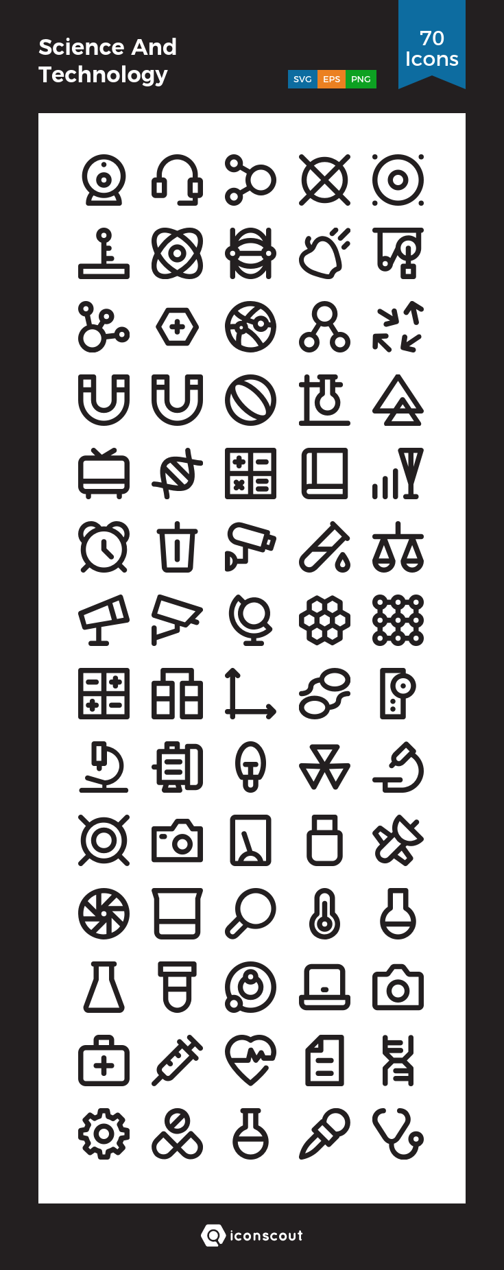 Download Science And Technology Icon Pack Available In Svg Png Eps Ai Icon Fonts Technology Icon Marketing Icon Icon Pack