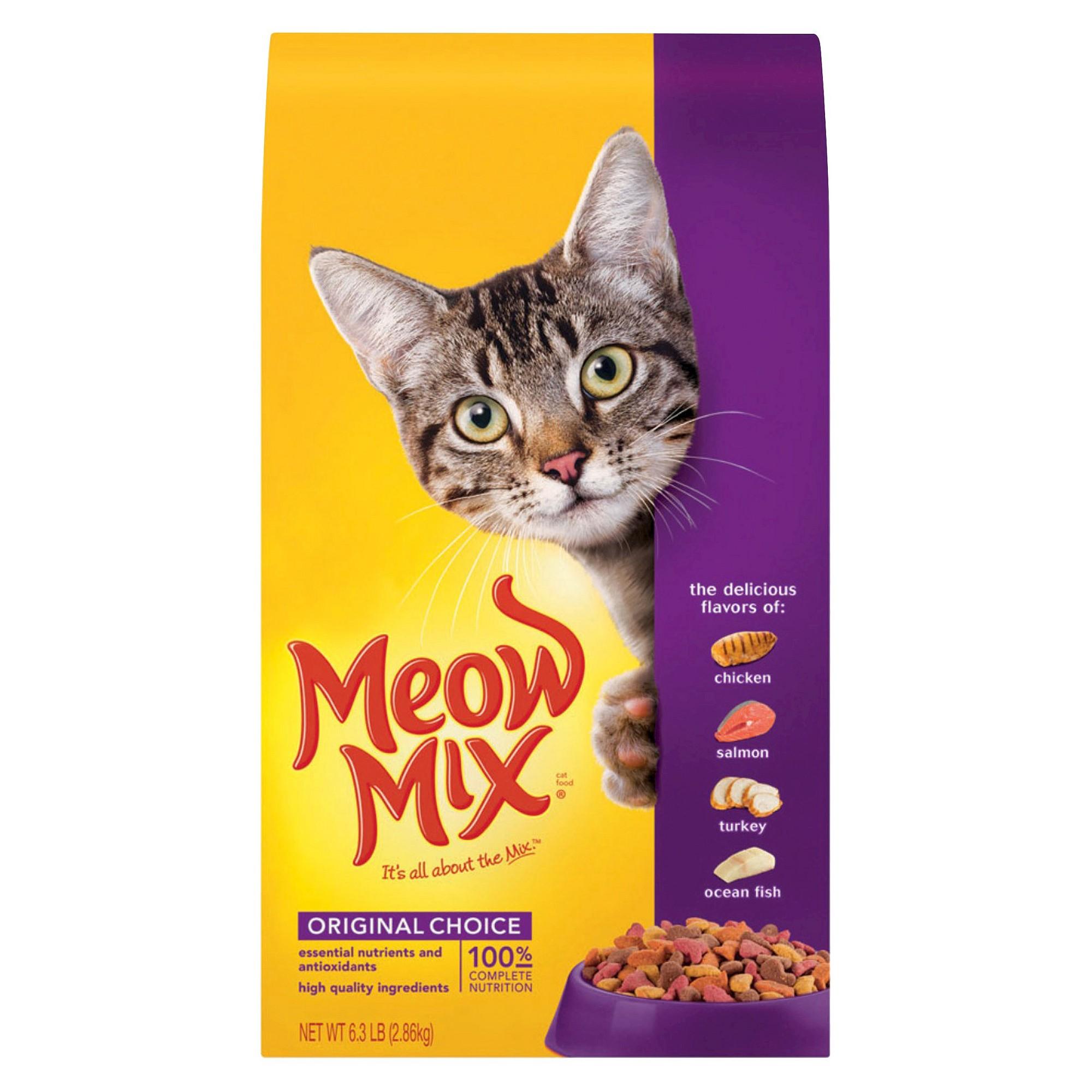 Meow Mix Original Choice Dry Cat Food 6 3lbs Dry Cat Food Cat
