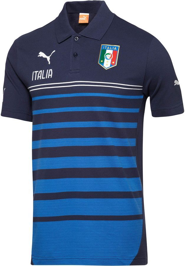 fb8fc7d33ca7 Puma FIGC Italia Leisure Hooped Polo Shirt on shopstyle.com