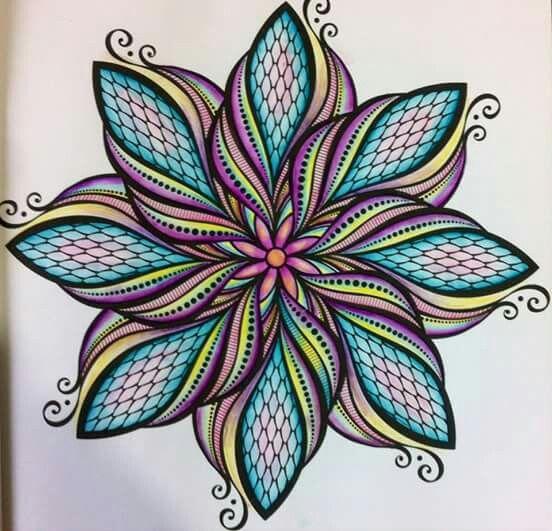 Mandala Coloring Example Mandala Artwork Mandala Coloring Mandala Design Art