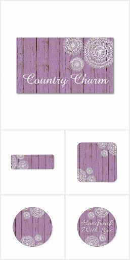 Country Charm Lilac on @zazzle  #country #rustic #crochet #doily #smallbusiness #marketing #branding #printables #shabbychic #farm #zazzle