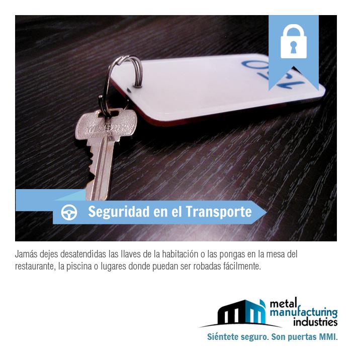 Por #seguridad, cuando te alojes en un hotel jamás dejes desatendidas las llaves de la habitación o las pongas en la mesa del restaurante, la piscina o lugares donde puedan ser robadas fácilmente. ¡Excelente día!