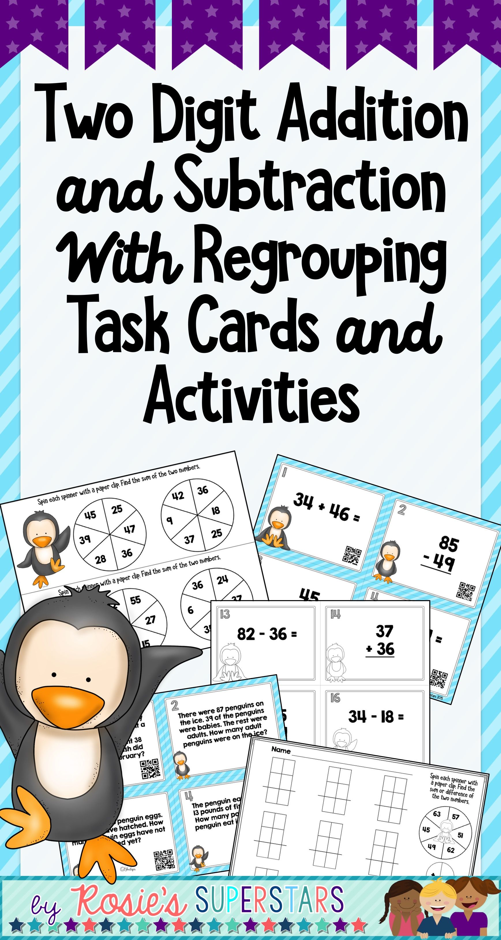 Double Digit Addition And Subtraction With Regrouping Task