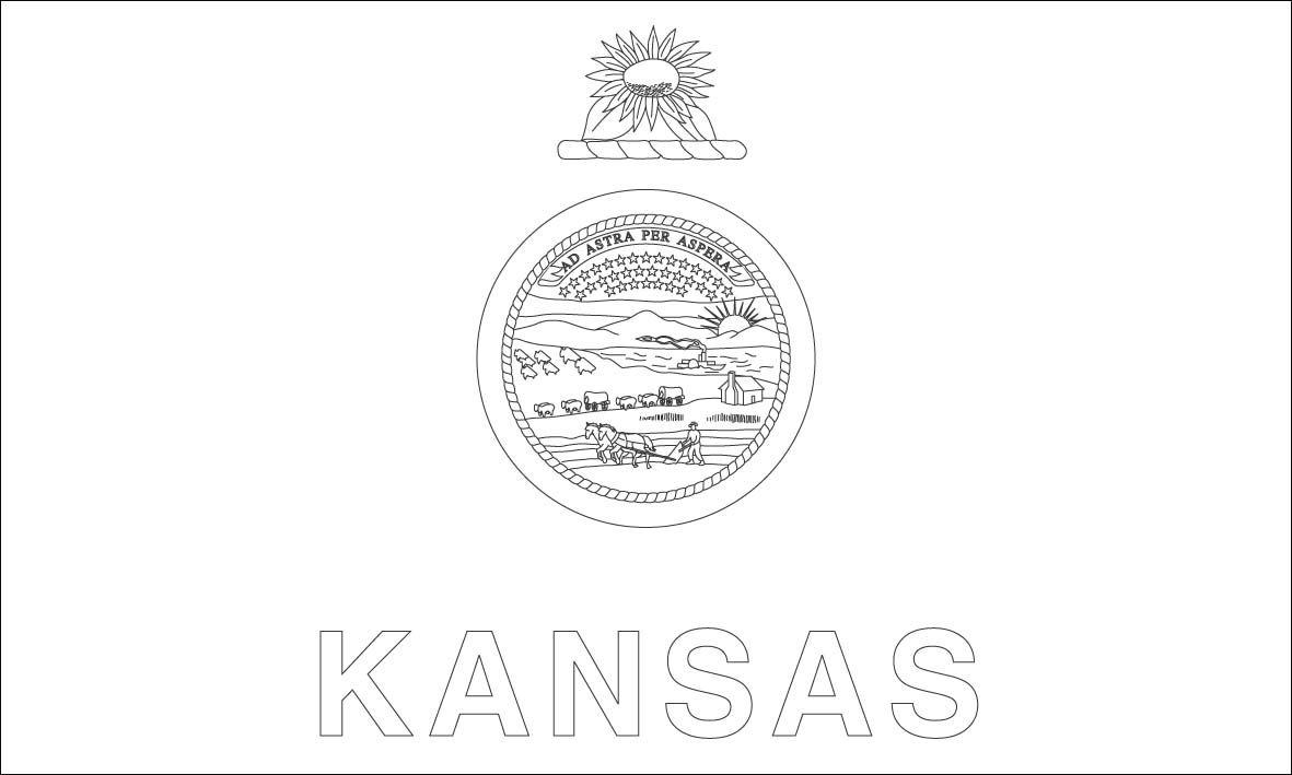 Kansas flag coloring pages kansas pinterest for Kansas state flag coloring page