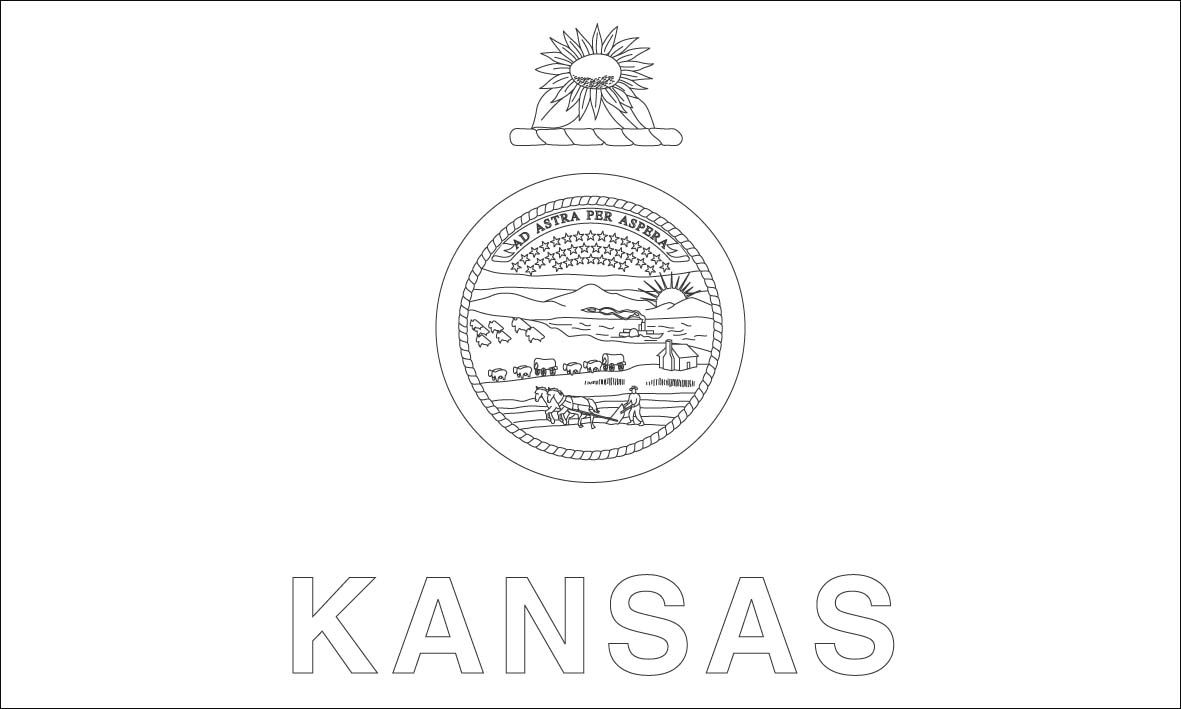 Kansas Flag Coloring Pages Flag Coloring Pages Kansas Flag