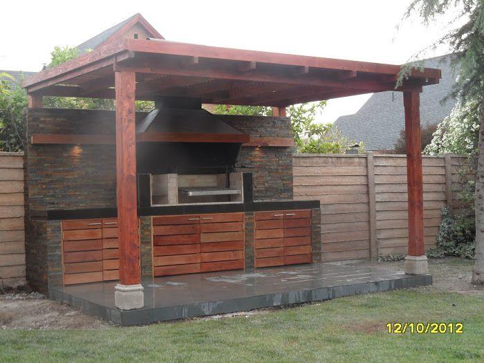 Quincho las brisas jardins de casas casas de pedra e for Casa moderna quincho