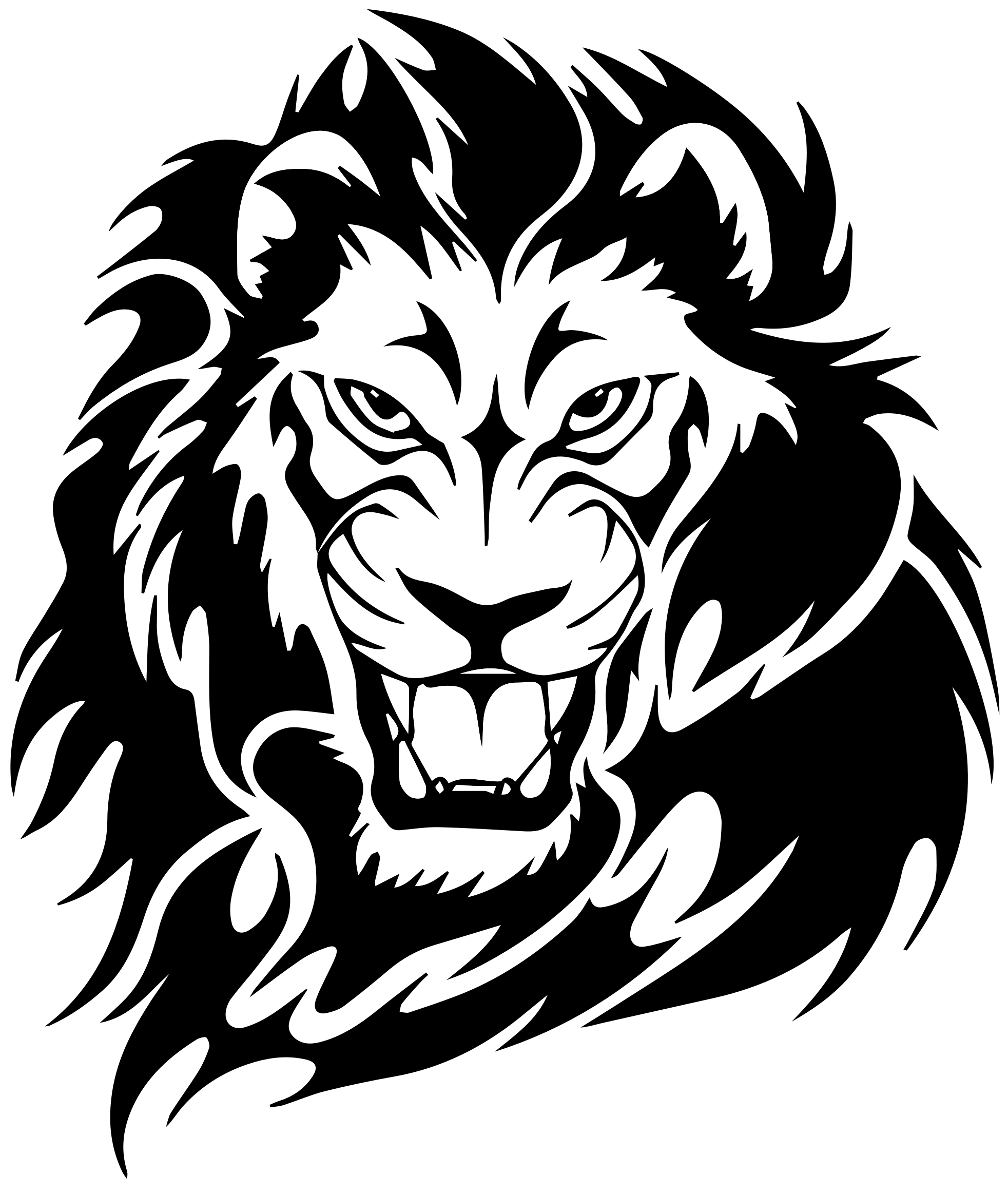 Car sticker design png - Tribal Lion