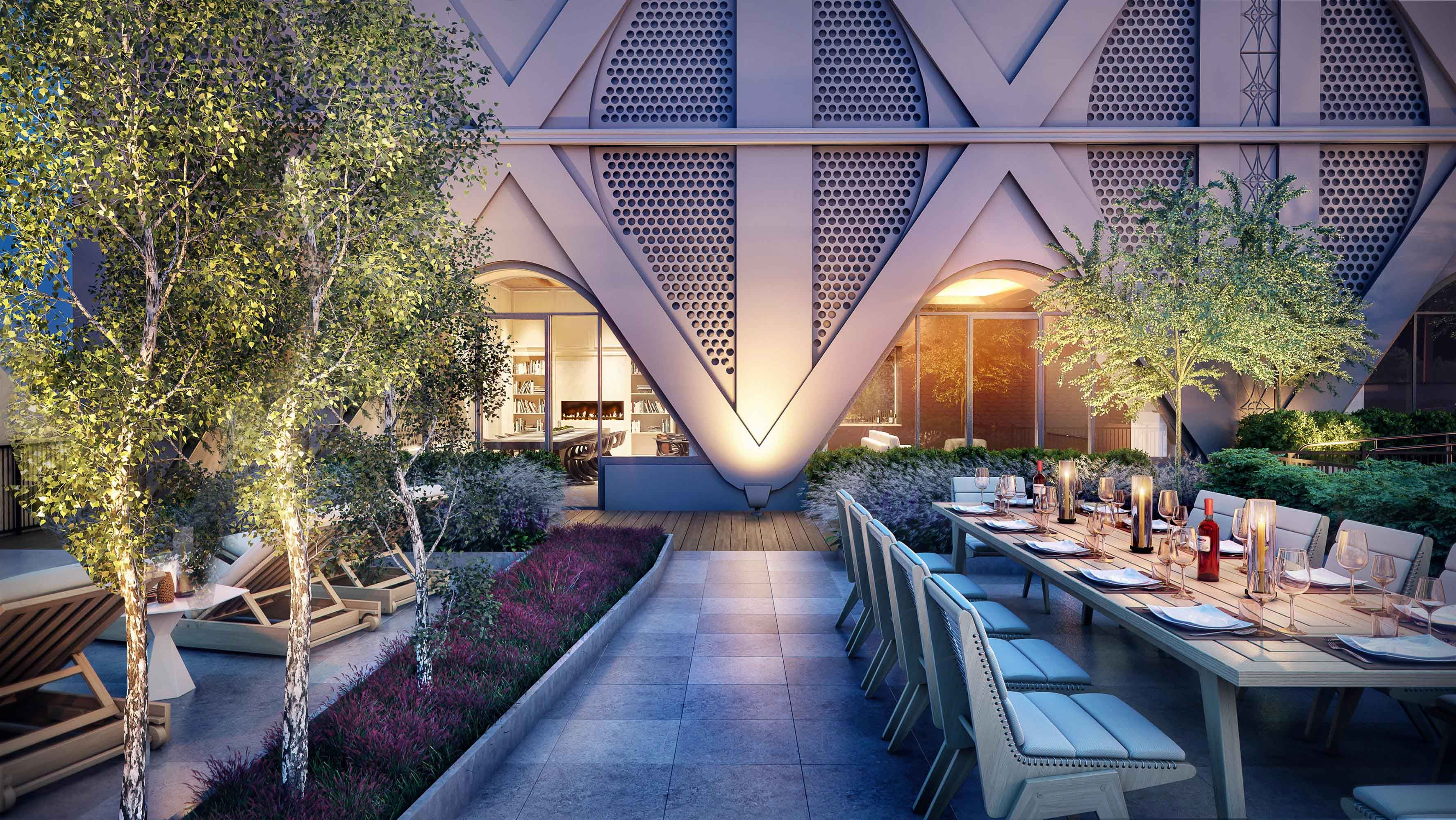 The Rooftop Terrace at The Beeman at 5 Beekman offers