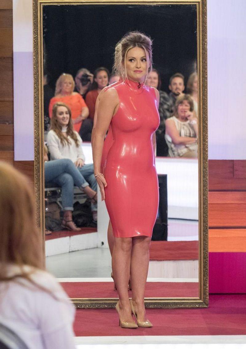 baf9455928 Related image RED PHATPHATIYA | pant | Pink latex dress, Rubber ...