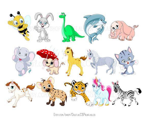 Cute Animal Clipart Cute Clipart Safari Animal Clipart Animal Png Kids Clipart Wild Animals Kids Cl Cute Animal Clipart Animal Illustration Kids Animal Clipart