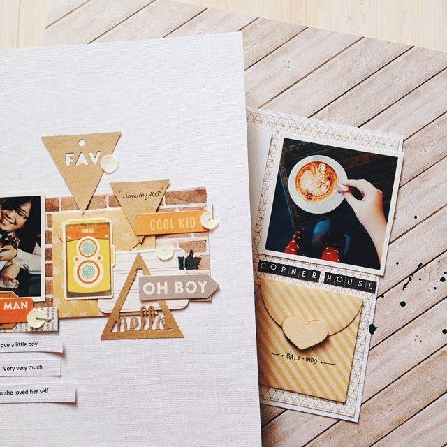 Two layouts for @jillibeansoup next month. #jillibeansoup #scrap #scrapbook