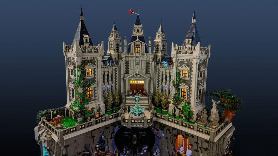 6Foot Tall Custom LEGO Batcave and Wayne Manor Lego