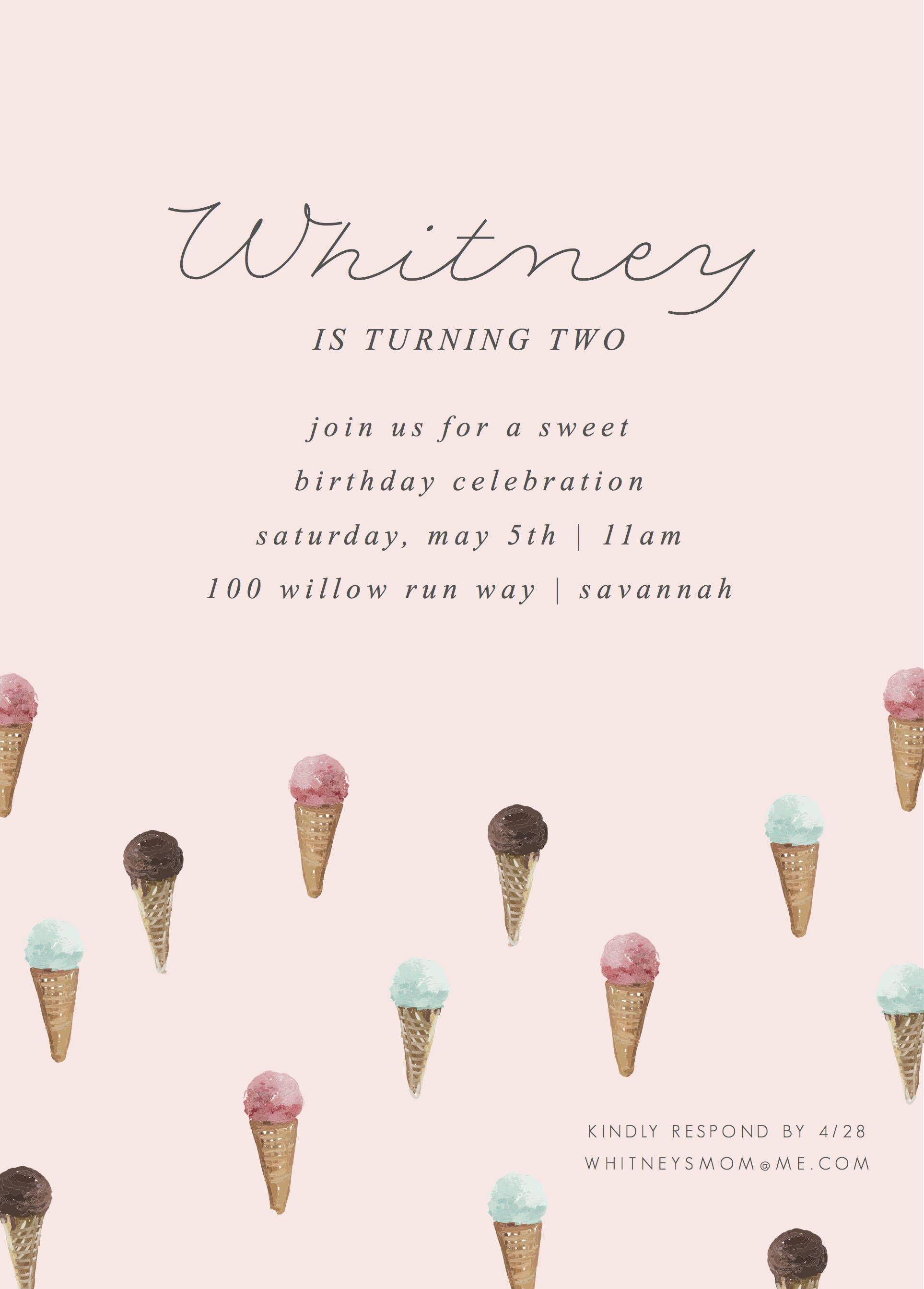 Ice Cream Social Birthday Invitation W Photo Ice Cream Etsy Ice Cream Party Invitations Ice Cream Social Invitations Ice Cream Invitation