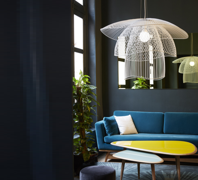 Pendant Light Papillon Gm White O100cm Forestier Interior Design Living Room Home Decor Living Room Decor