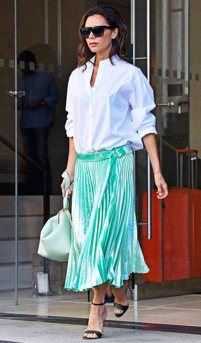 Victoria Beckham sticks to her favorite outfit formula while in Paris, but her latest iteration is one we've seen before.