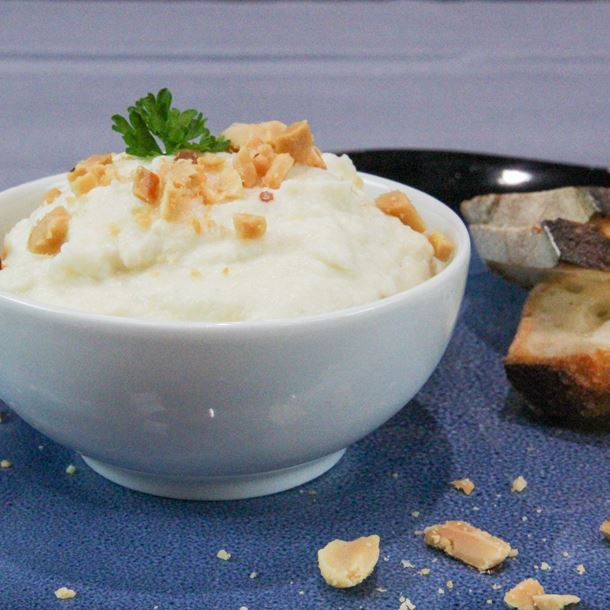 Crème de chou-fleur à la cacahuète | Recette | Creme de choux fleur, Chou fleur, Choux