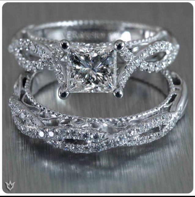 Verragio Engagement Ring And Wedding Band This Set Is Gorgeous