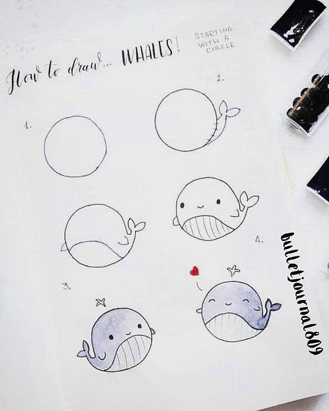"""bullet_journal_ auf Instagram: """"Magst du Wale? Wenn du Wale magst, dann ..., #auf #bulletjou..."""