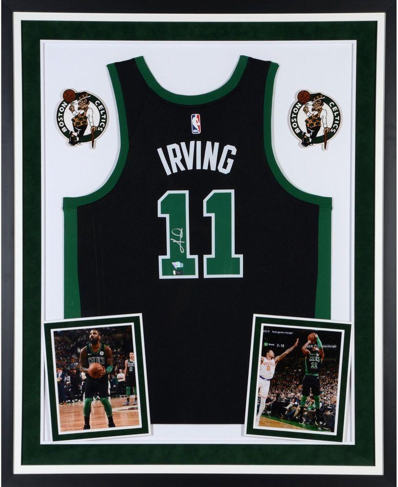157f326e7b1 Kyrie Irving Boston Celtics Deluxe Framed Signed Black Swingman Jersey -  Panini  sportsmemorabilia  autograph  basketballjersey