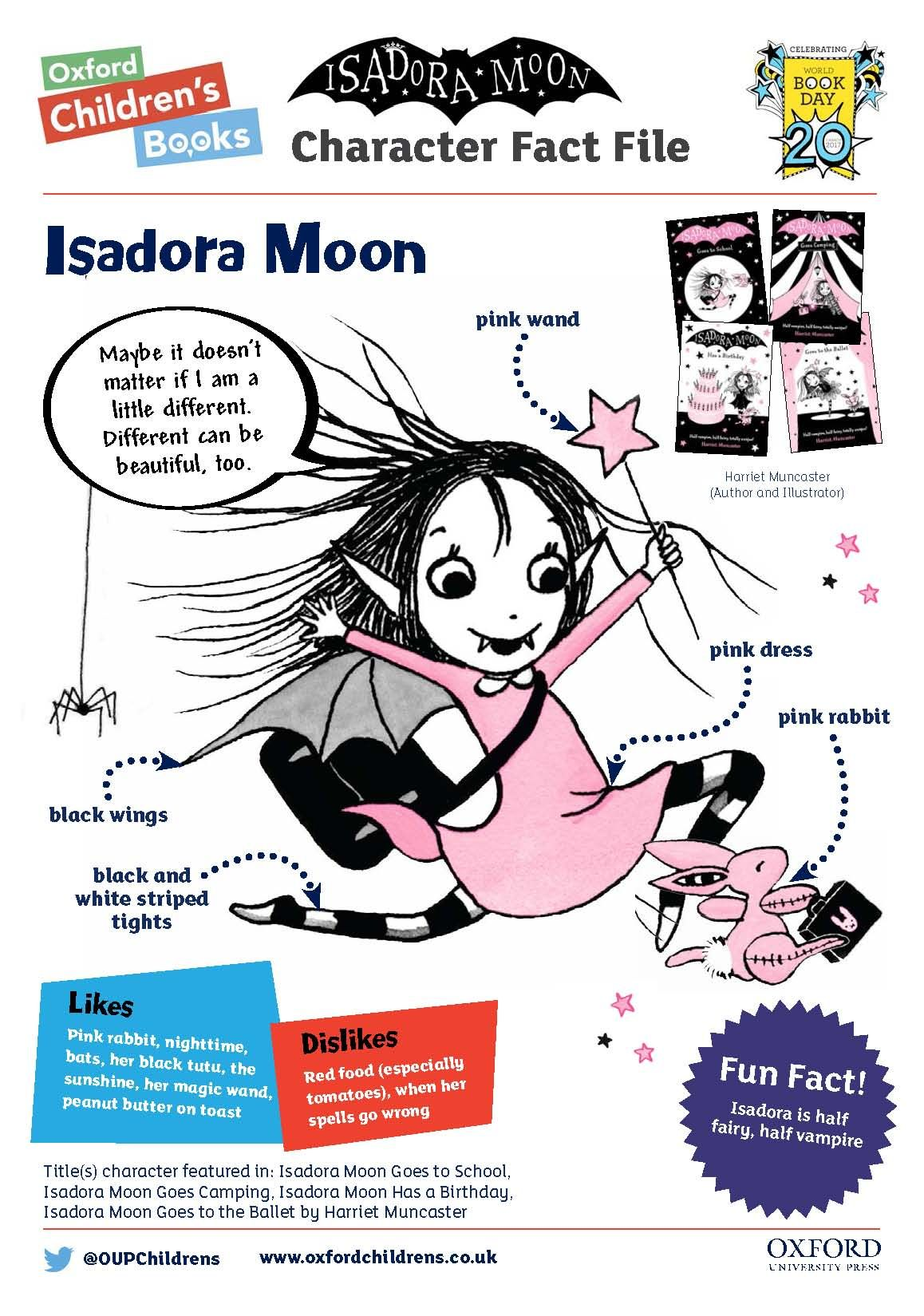 All the information you need to dress up as Isadora Moon for World Book Day!