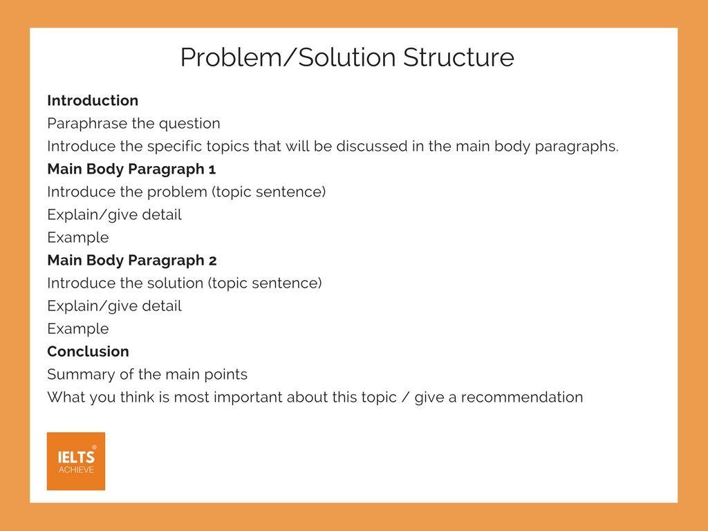 Write Problem Solution Essay Example