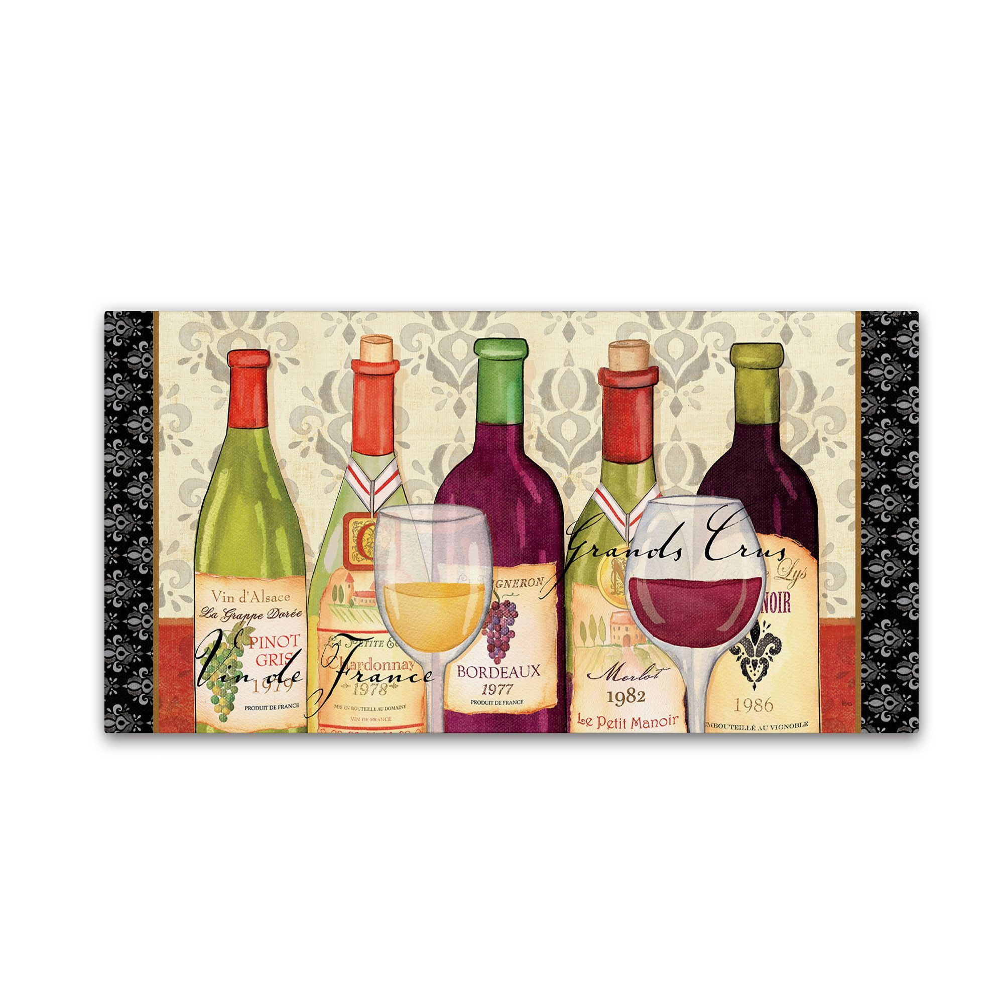 Grand crus by veronique charron graphic art on wrapped canvas
