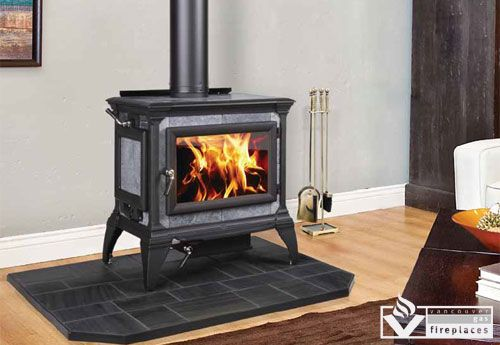 Designed To Be A Whole House Heater The Heritage Wood Burning Stove Features Taller Than Average Legs To Wood Stove Soapstone Wood Stove Wood Burning Stove