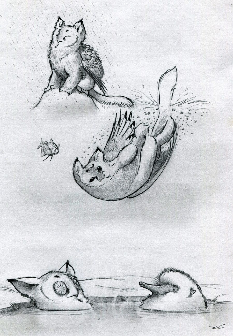 Owl Griffin Various Baths By Robthedoodler Deviantart Com On