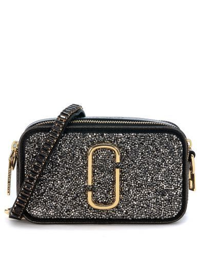 1d0adc8d807 MARC JACOBS Marc Jacobs Snapshot Double Shoulder Bag In Grey Laminated  Glitter Leather. #marcjacobs #bags #shoulder bags #leather #stone #glitter  #lining #