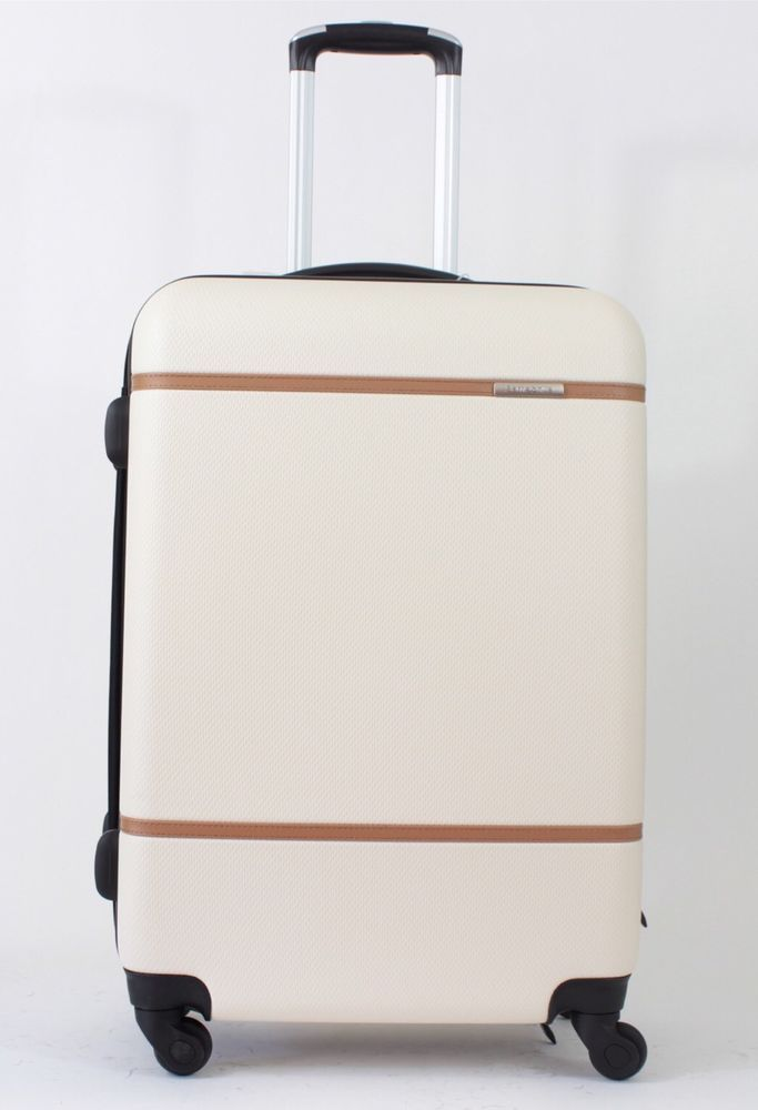 samsonite luggage clearwater spinner suitcase 24 in ivory white