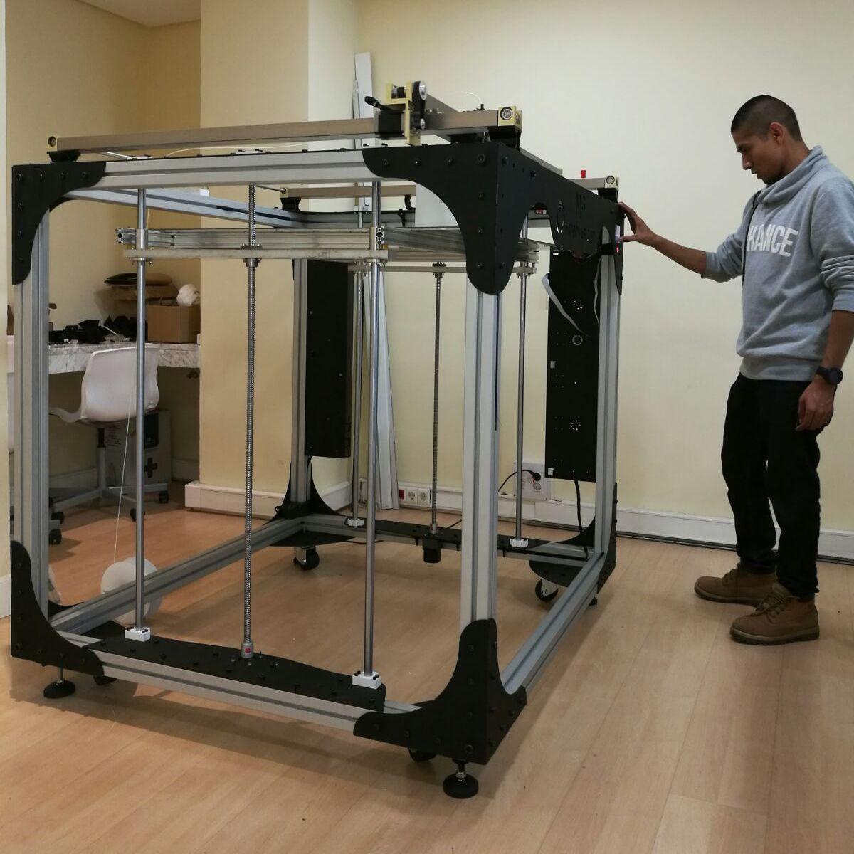 Impresora 3D con un metro cúbico de área de impresión