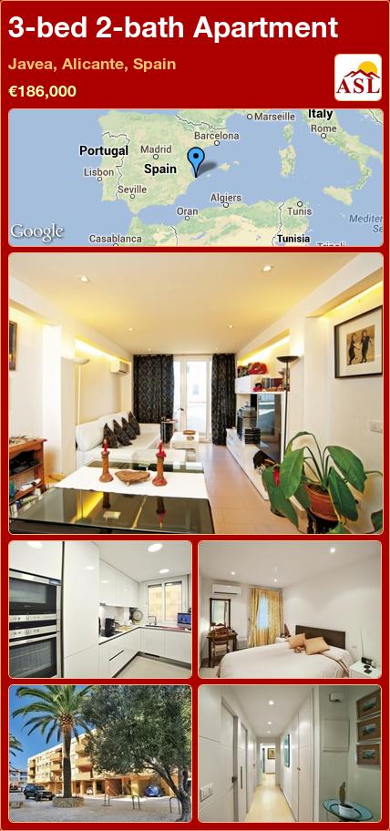 3-bed 2-bath Apartment in Javea, Alicante, Spain ►€186,000 #PropertyForSaleInSpain