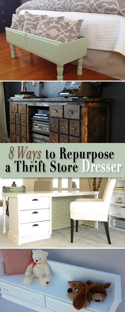 8 Ways To Repurpose A Thrift Store Dresser U2022 All These DIY Projects Were  Once Plain