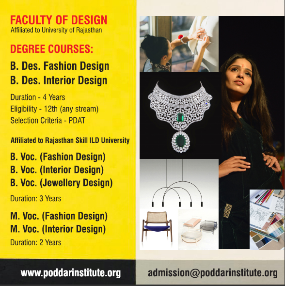 Admissions Open For Fashion Interior Jewellery Product Designing For Admissions Call Us On 91 9828725384 Poddardesigninstitute Fashi Jaipur Design Bca